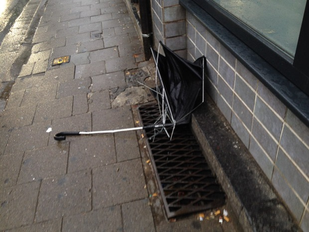 Niet mijn paraplu, ik heb een stormvaste